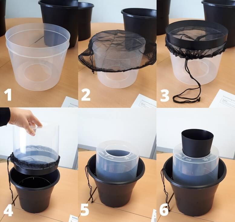 Montage du piège moustique et anti larves de moustiques BIOGENTS
