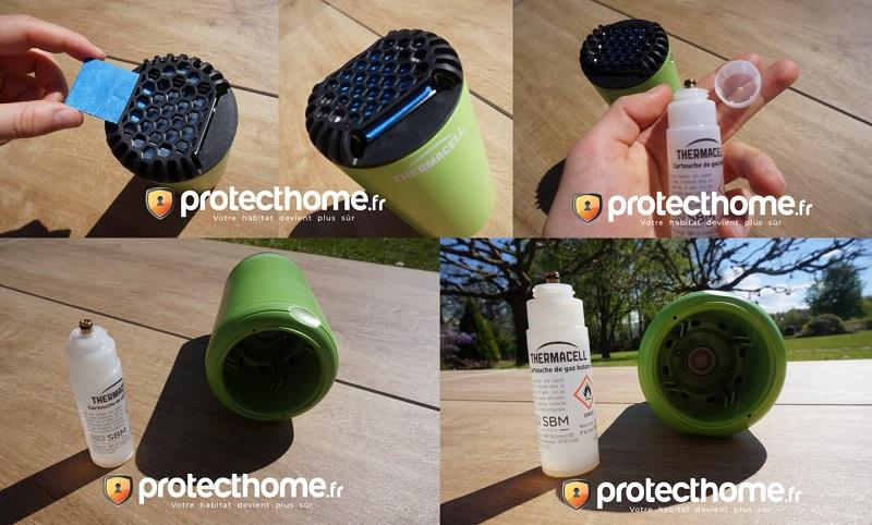 Diffuseur anti moustique thermacell mise en place